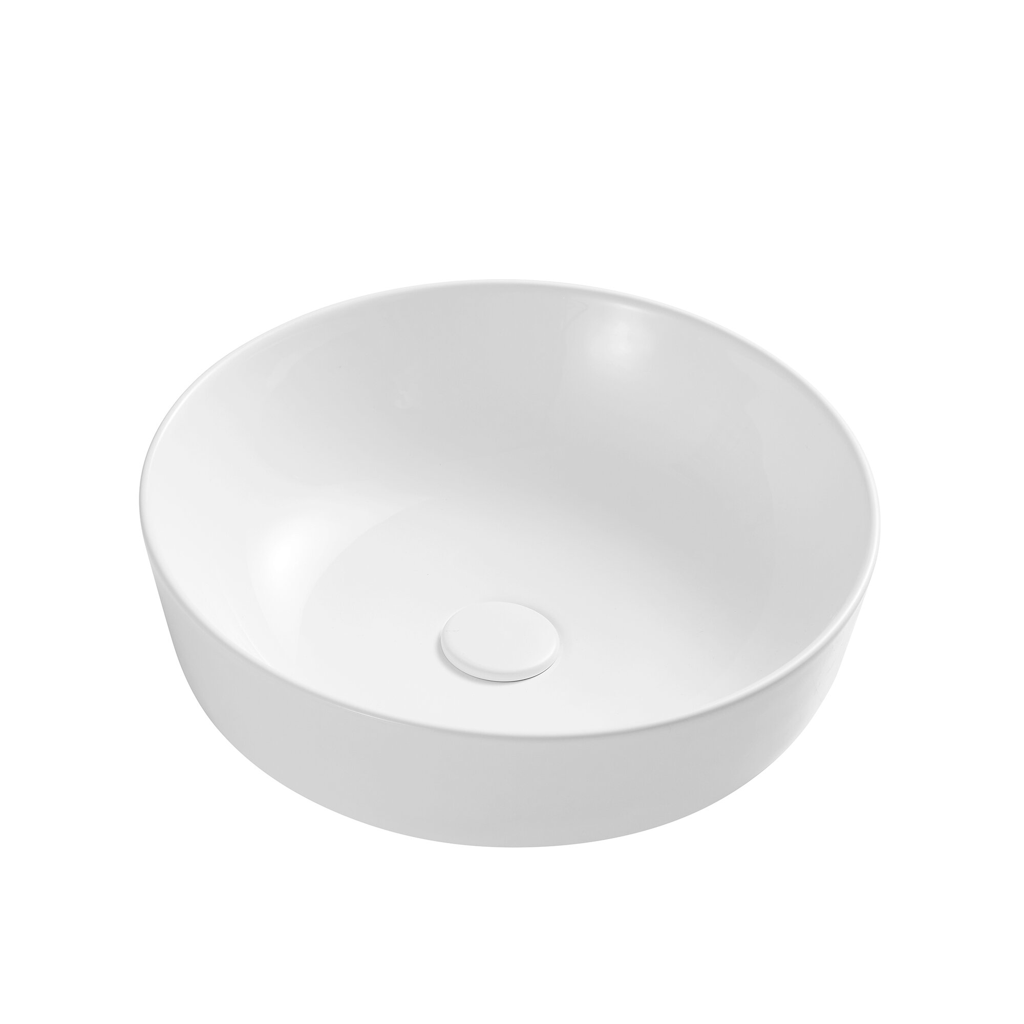 Yandood White Ceramic Circular Vessel Bathroom Sink Wayfair