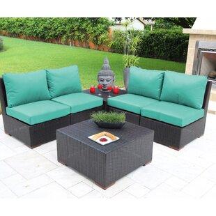 Bellini Home and Garden Scholtz 6 Piece Sunbrella Sofa Set with Cushions