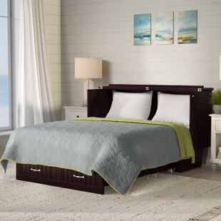 Graham Queen Murphy Storage Platform Bed with Mattress by Beachcrest Home