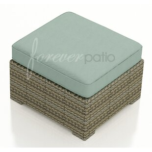 Forever Patio Hampton Ottoman with Cushion