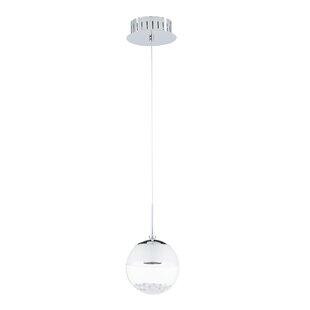 1 Light Led Globe Pendant Wayfair Co Uk