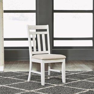 Breakwater Bay Specht Slat Back Upholstered Dining Chair (Set of 2)