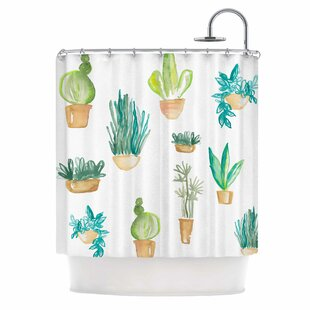East Urban Home Jessi Blake Plants and Cacti Illustration Shower Curtain