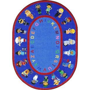Find for We Work Together Blue/Red Area Rug ByJoy Carpets