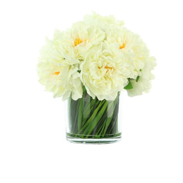 Willa Arlo Interiors Peonies Floral Arrangement In Vase Reviews Wayfair