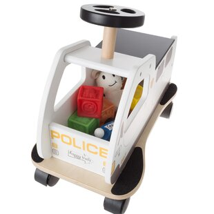 Raya Ride on Police Car Toy Box By Zoomie Kids