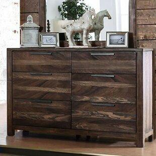 17 Stories Serafina 6 Drawer Double Dresser with Mirror