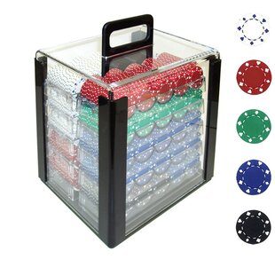 Suited Design Case with Poker Chip (Set of 1000) by Trademark Global