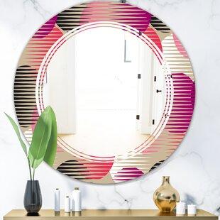 Triple C Circular VIII Modern Frameless Wall Mirror by East Urban Home