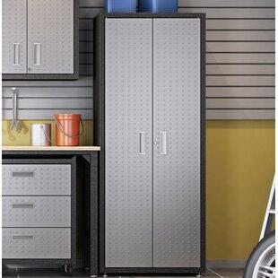 Fortress 74 H x 30 W x 18 D Garage Storage Cabinet by Manhattan Comfort