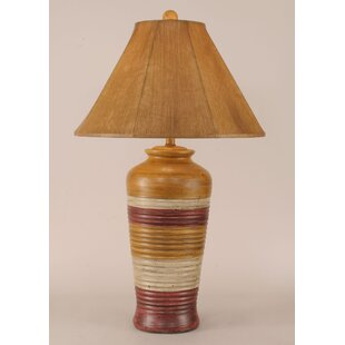 Rustic Living Ribbed Pot 30 Table Lamp