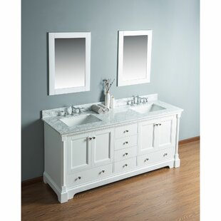 Rayleigh 72 Double Bathroom Vanity Set with Mirror by Charlton Home