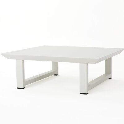 Fricks Metal Coffee Table Color: White by Charlton Home