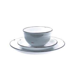Reviews Tinware 4 Piece Place Setting, Service for 1 ByCanvas Home