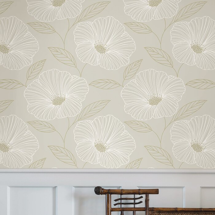 Henault 33 L X 20 5 W Floral And Botanical Wallpaper Roll