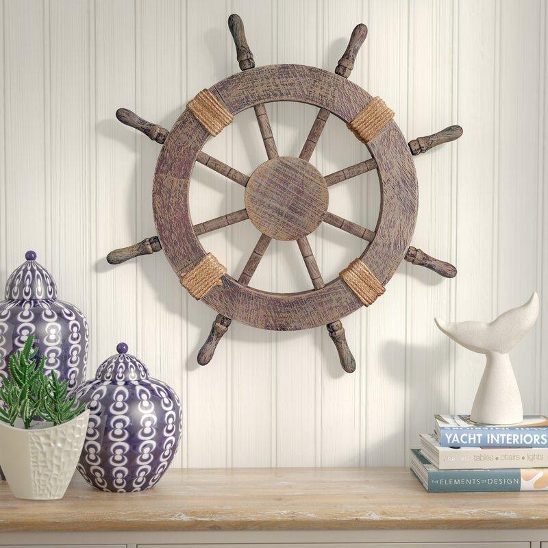 Ornamental Nautical Ship Steering Wheel Home Wall Decor