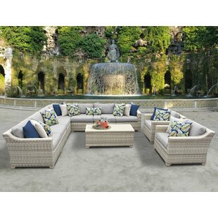 Rosecliff Heights Ansonia 10 Piece Sectional Set with Cushions