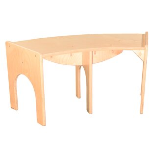 Red Barrel Studio Burnard Curved Wood Bench