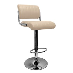 Baskett Height Adjustable Bar Stool By Metro Lane