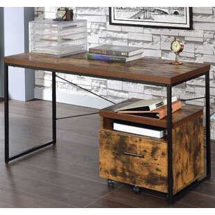 Rollison Writing Desk With File Cabinet by Millwood Pines Cool