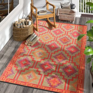 Patterson Square Red Indoor/Outdoor Area Rug