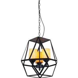 Trenton 3-Light Geometric Chandelier by CWI Lighting