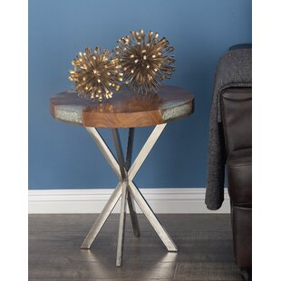 Inexpensive Teak/Stainless Steel End Table ByCole & Grey