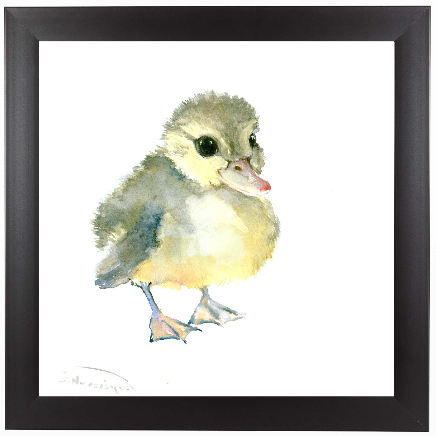 East Urban Home Baby Duck Framed Painting Print Wayfair
