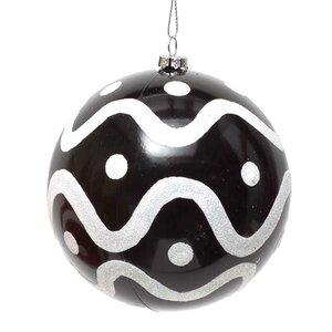 Glitter Swirl Ball Ornament