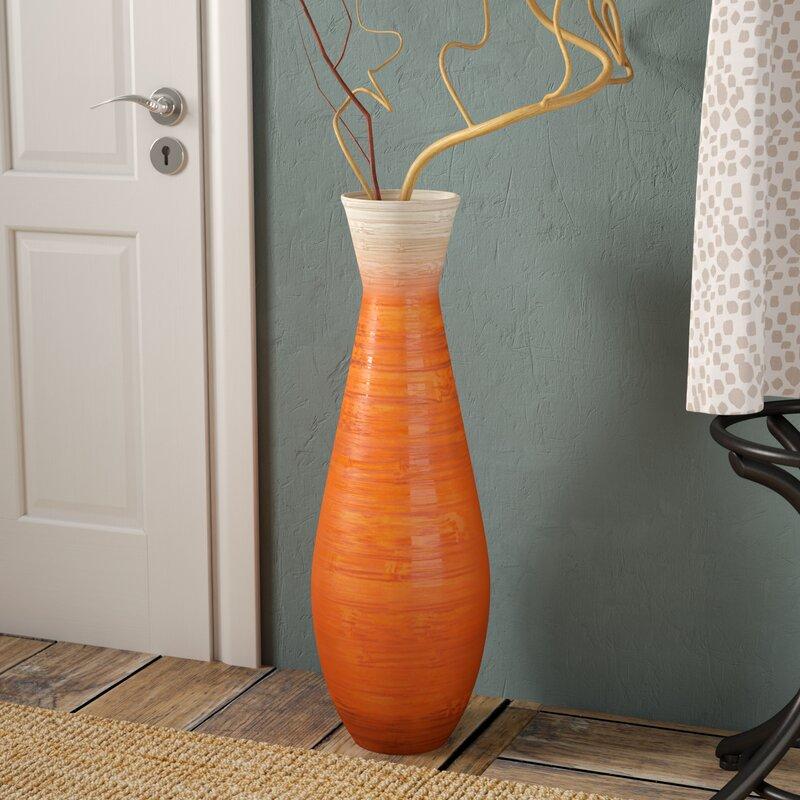 Bloomsbury Market Tall Trumpet Bamboo Floor Vase Reviews Wayfair
