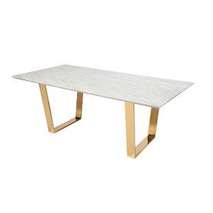 Giorgi Marble Chrome Dining Table by Everly Quinn