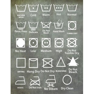 Laundry Symbols By Diana Alcala Painting Print On Wred Canvas