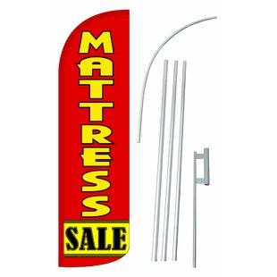 Mattress Sale Polyester 15' X 2'6 Flag Set by NeoPlex