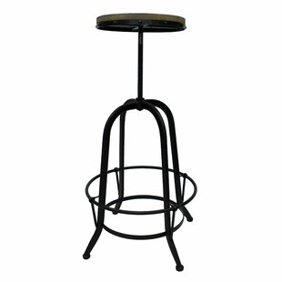 17 Stories Maisie Adjustable Height Swivel Bar Stool