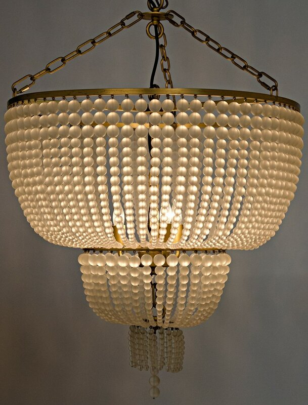 Noir karenina metal 3 light crystal chandelier reviews wayfair karenina metal 3 light crystal chandelier aloadofball Images