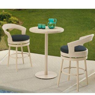 Harborcreek 3 Piece Bar Table Set with Cushions
