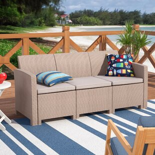 Breakwater Bay Stockwell Patio Sofa with Cushions