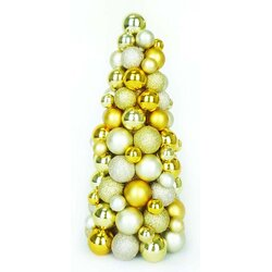 Northlight Shades of Gold Shatterproof Christmas Ball Ornament ...