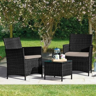 Ayios 2 Seater Rattan Effect Conversation Set By Sol 72 Outdoor