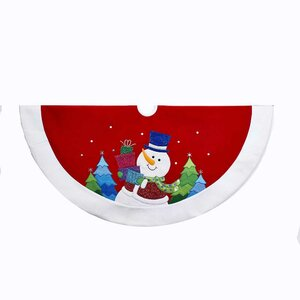 Snowman Glitter Applique Tree Skirt