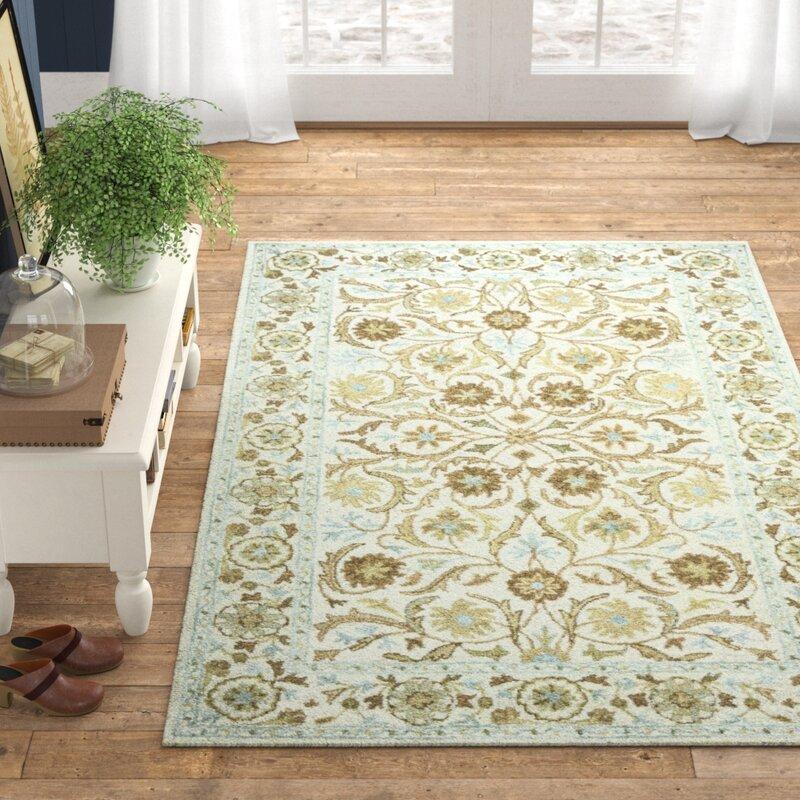 Ake Oriental Hand Tufted Wool Ivory Area Rug Reviews Birch Lane