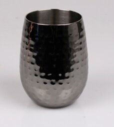 Meacham Hammered 16 oz. Stainless Steel Stemless Wine Glass