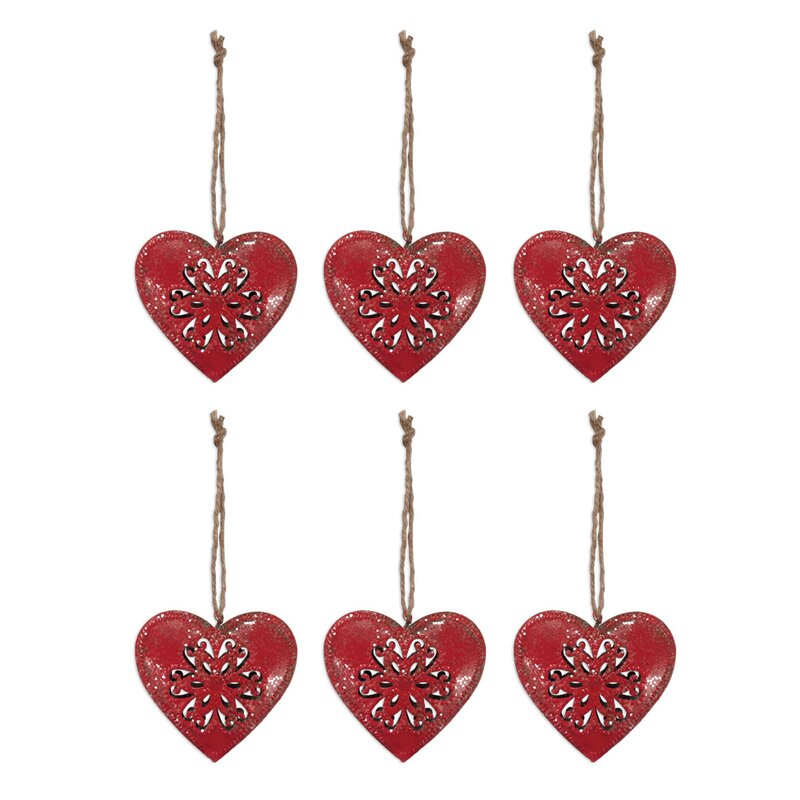The Holiday Aisle Red Heart Holiday Shaped Ornament Wayfair