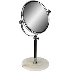 Symple Stuff Kolb Alabaster Double-Sided Extendable Makeup/Shaving Mirror