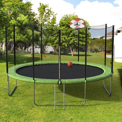 14' Round Trampoline with Safety Enclosure LivEditor