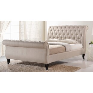 Vidette Upholstered Sleigh Bed by Three Posts