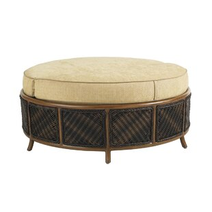 Island Estate Lanai Storage Outdoor Ottoman with Cushion