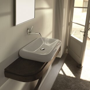 WS Bath Collections Cento Ceramic Ceramic Rectangular Vessel Bathroom Sink