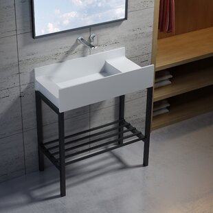 Reviews Wolkeseiben Stone 31 Console Bathroom Sink By InFurniture
