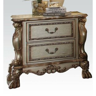 Swanville Wooden 2 Drawer Nightstand by Astoria Grand